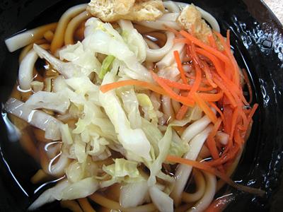 これが吉田のうどん。麺がとにかく硬い