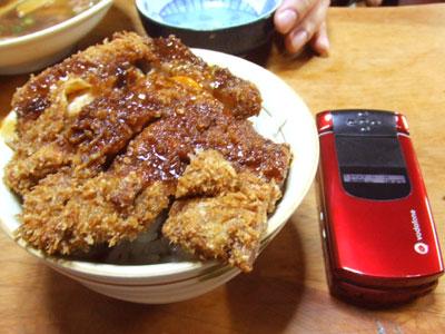 岡山の名物『デミカツ丼』を食べに