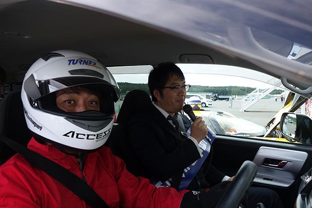 レーシングドライバーとしての横田さん。